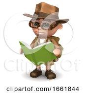3d Explorer Reads A Book
