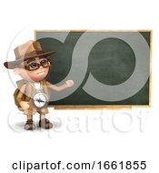 3d Explorer At The Blackboard