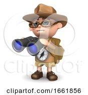 3d Explorer With Binoculars