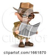 3d Explorer Reads A Newspaper