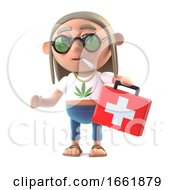 Poster, Art Print Of 3d Hippie Stoner Brings Medicine
