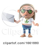 Poster, Art Print Of 3d Hippie Stoner Has Mail