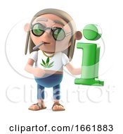 Poster, Art Print Of 3d Hippie Stoner Has Information