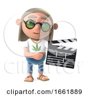Poster, Art Print Of 3d Hippy Dope Smoker Is Making A Movie