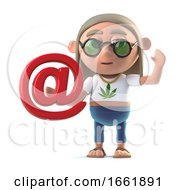 Poster, Art Print Of 3d Hippy Stoner Has An Email Address