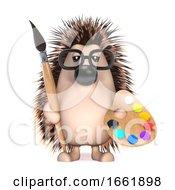 Poster, Art Print Of 3d Hedgehog Is An Artist