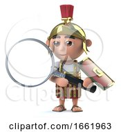 3d Roman Centurion Has A Magnifying Glass by Steve Young