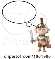 3d Roman Centurion Soldier With Speech Balloon by Steve Young