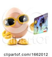 Poster, Art Print Of 3d Egg Using A Debit Card