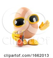 Poster, Art Print Of 3d Egg At A Party