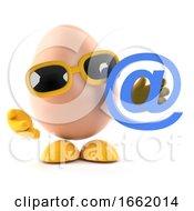 Poster, Art Print Of 3d Egg Has An Email Address
