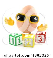 Poster, Art Print Of 3d Egg Learns To Count