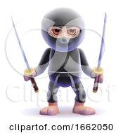 3d Ninja Swords Drawn