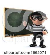 3d Burglar Teaches At The Blackboard