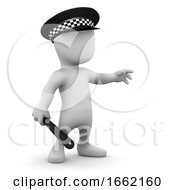3d Man Is A Police Officer
