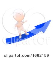 3d White Person On An Arrow