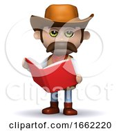 3d Cowboy Sheriff Reads Up On The Law