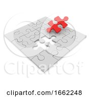 Poster, Art Print Of 3d Final Piece Of The Jigsaw Puzzle