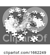 Poster, Art Print Of 3d Cogs And Gears Jigsaw Puzzle