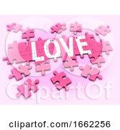Poster, Art Print Of 3d Love Jigsaw
