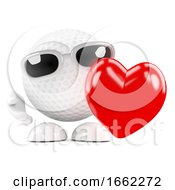 Poster, Art Print Of 3d Golf Ball Love