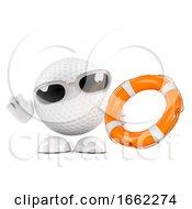 3d Golf Ball With Life Belt