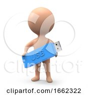 3d Little Person With Memory