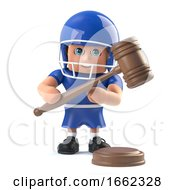 3d American Football Player Character Holding An Auction