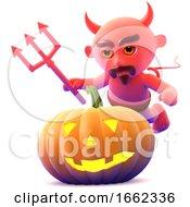 3d Devil Pumpkin by Steve Young