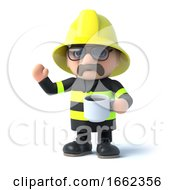 3d Fireman Takes A Coffee Break by Steve Young