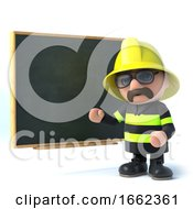 3d Fireman Trains At The Blackboard by Steve Young