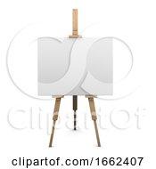 3d Blank Canvas On Easel