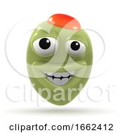 3d Happy Stuffed Olive