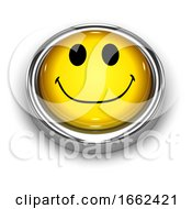 Poster, Art Print Of 3d Smiley Button