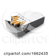 Poster, Art Print Of 3d Pack Of Cigarettes