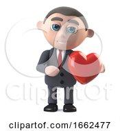 Poster, Art Print Of 3d Businessman Has A Heart