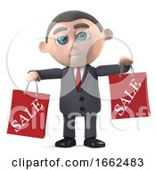 3d Businessman Has Been To The Sales