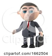 3d Businessman With A Briefcase