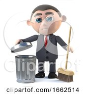 3d Businessman Cleans Up by Steve Young