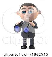 3d Businessman With Binoculars