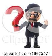 3d Bowler Hatted British Businessman Has A Question