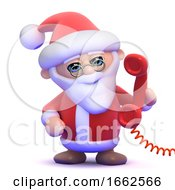 3d Santa Answers The Phone by Steve Young