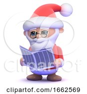 3d Santa Claus Is Reading The Newspaper by Steve Young