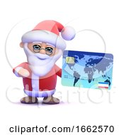 3d Santa Claus With A Credit Card by Steve Young