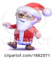 3d Santa Claus Is Dancing At The Party by Steve Young