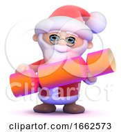 3d Santa Claus And Christmas Cracker by Steve Young