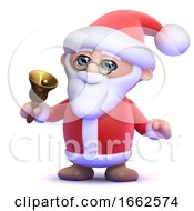 3d Santa Rings His Bell by Steve Young