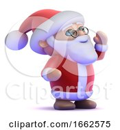 3d Santa Yells Out by Steve Young