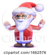 3d Santa Claus Is So Happy by Steve Young