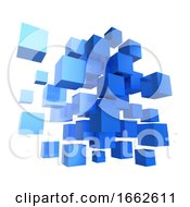 3d Blue Cube Design by Steve Young